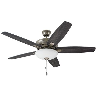 52 Millfield 5 Blade Ceiling Fan Finish: Antique Pewter