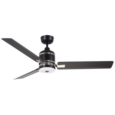 54 Ideal 3 Blade Ceiling Fan Motor and Blade Finish: Barbeque Black