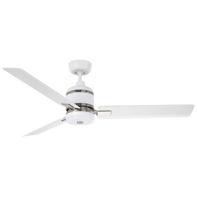 54 Lamy 3 Blade Ceiling Fan Motor and Blade Finish: Satin White