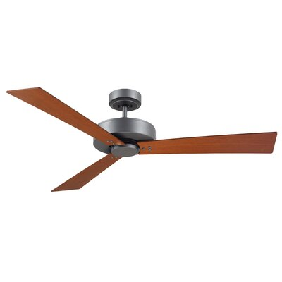 52 Bai 3-Blade Ceiling Fan Finish: Graphite Finish  W/ Natural Cherry and Walnut