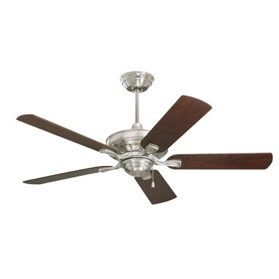 52 Middleport 5 Blade Ceiling Fan Finish: Brush Steel Finish  W/ Dark Cherry and Walnut