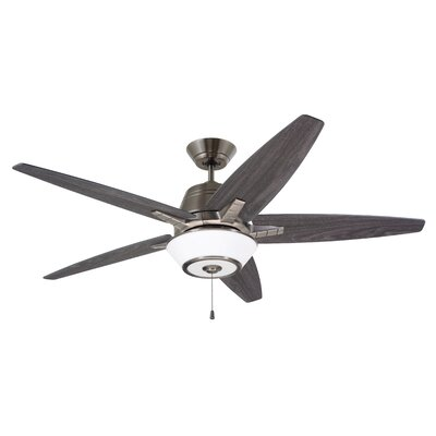 56 Amundsen 5 Blade Ceiling Fan Finish: Antique Pewter with Charcoal/Timber Gray Blades