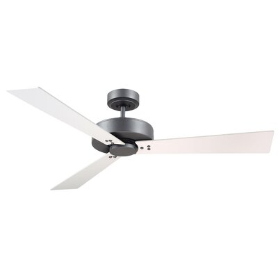 52 Bai 3-Blade Ceiling Fan Finish: Graphite Finish  W/ Satin White and Maple