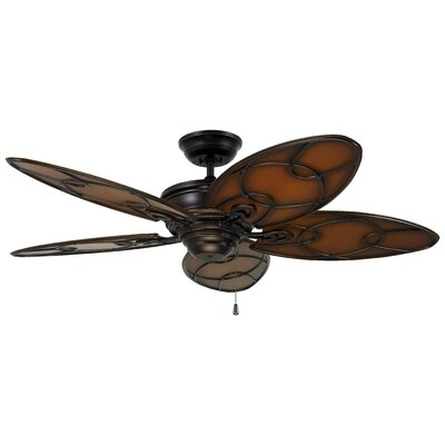 52 Denwood 5 Blade Outdoor Ceiling Fan Finish: Venetian Bronze with  Medium Antique Brown blades
