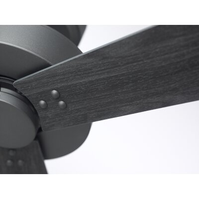 52 Bai 3-Blade Ceiling Fan Finish: Graphite Finish  W/ Brushed Steel and Barbeque Bla