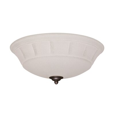 Grande White Mist Light Fixture Housing Finish: Antique Brass