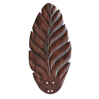 22 Hand Carved Leaf Blades (Set of 5) Finish: Dark Cherry