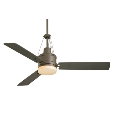 54 Highpointe 3-Blade Ceiling Fan Finish: Golden Espresso with Chocolate Blades