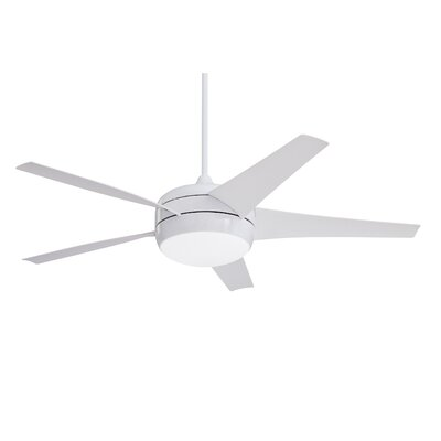 54 Clarington 5 Blade LED Ceiling Fan with Remote Finish: Appliance White with White Blades