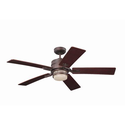 54 Lattimore Transitional Amhurst 5 Blade LED Ceiling Fan Finish: Venetian Bronze with Riverwash Blades