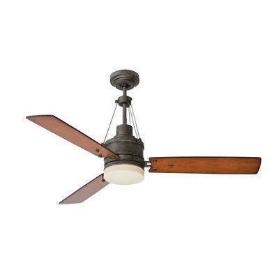 54 Highpointe 3-Blade Ceiling Fan Finish: Steel with Honey Oak Blades