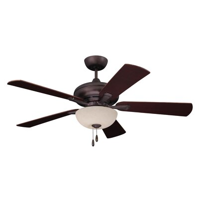52 Carolina 5 Blade Ceiling Fan Finish: Oil Rubbed Bronze with Walnut Blades