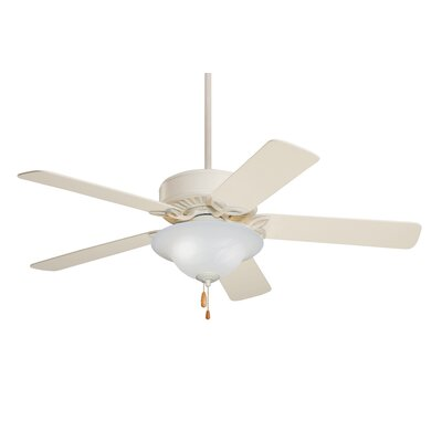 50 Kaley Ceiling Fan Finish: Summer White with Summer White Blades, Glass Type: Alabaster Swirl Glass