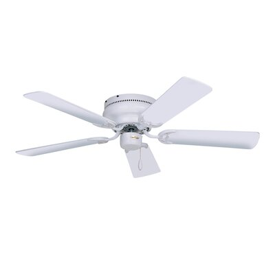 52 Williamson 5 Blade Ceiling Fan Blade Finish: Appliance White, Motor Finish: Appliance White