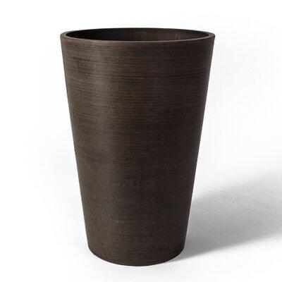 """Valencia Composite Pot Planter Color: Chocolate, Size: 12.75"""" H x 10"""" W x 10"""" D 16125"""
