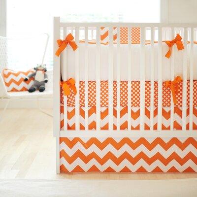 New Arrivals Zig Zag Baby 2 Piece Crib Bedding Set - Color: Tangerine