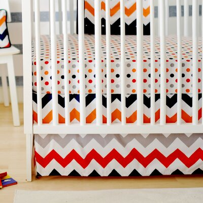 New Arrivals Zig Zag Baby 3 Piece Crib Bedding Set - Color: Rugby