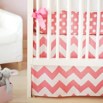 New Arrivals Zig Zag Baby 3 Piece Crib Bedding Set - Color: Hot Pink
