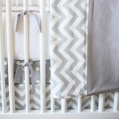 Zig Zag Baby 2 Piece Crib Bedding Set Color: Slate
