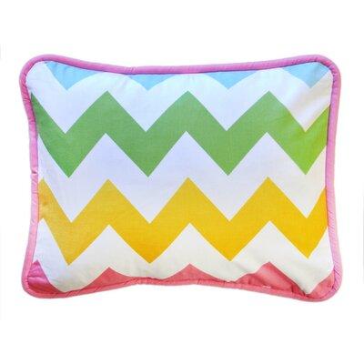 Zig Zag Throw Pillow Color: Rainbow