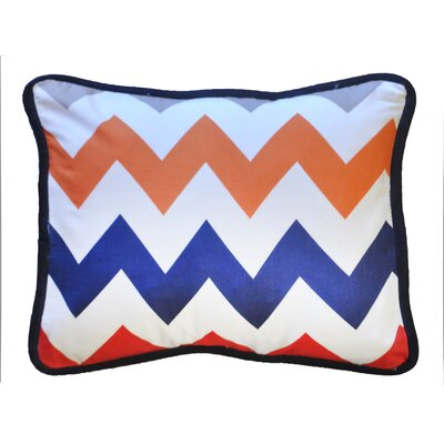 Zig Zag Throw Pillow Color: Rugby