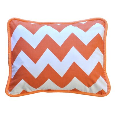 Zig Zag Throw Pillow Color: Tangerine