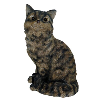 Cat Sitting Up Statue Color: Tiger Gray MCD80003TG