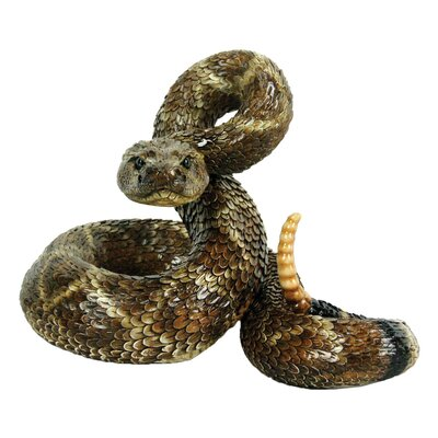 Western Diamond Back Coiled Snake Statue 80057