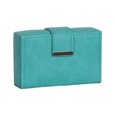 Joni Travel Faux Leather Jewelry Case Color: Turquoise 0051640
