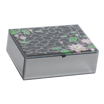 Mele & Co. Chanda Mirrored Glass Box with Lily Pond Design at Sears.com