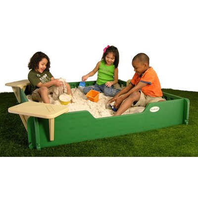 SandLock Square Sandbox with Cover - Size: 5' x 5' at Sears.com