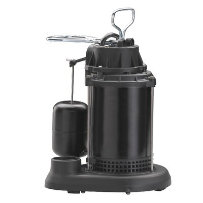 65 GPM Vertical Float Switch Thermoplastic Sump Pump with Epoxy Steel Motor Case