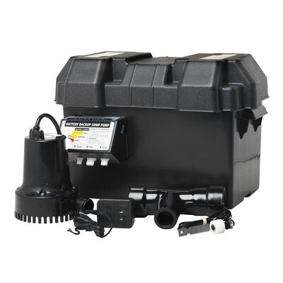 Thermoplastic Battery Back-Up Sump Pump System