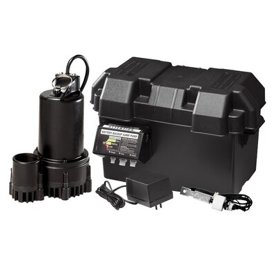 12V Thermoplastic Battery Back-Up Sump Pump System