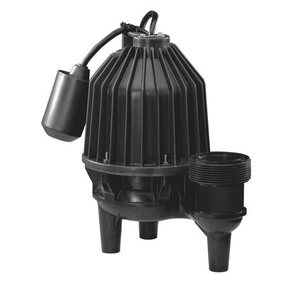 1/2 HP Tether Float Switch Thermoplastic Sewage Pump