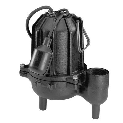 1/2 HP Tether Float Switch Cast-Iron Sewage Pump