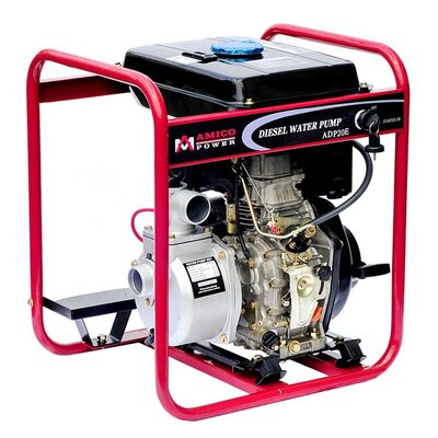 96.86 GPM Diesel Semi Trash Water Pump with Electric/Recoil Start