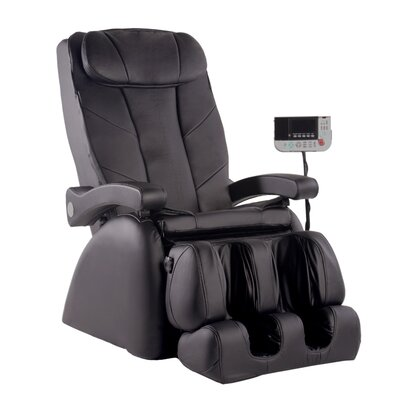 ME-1 Montage Elite Reclining Heated Massage Chair Upholstery: Ivory