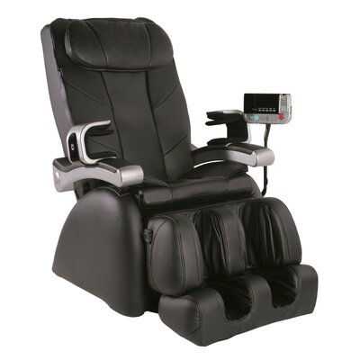 MP-1 Montage Premier Reclining Heated Massage Chair Upholstery: Coffee