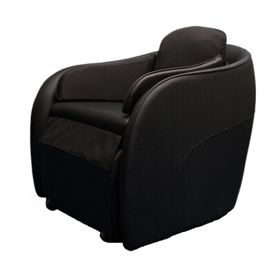 Aires Massage Chair with Ottoman Color: Black