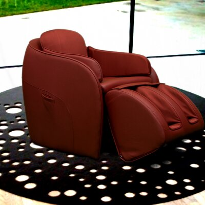 Aires Massage Chair with Ottoman Color: Red