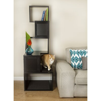 The Sebastian 65 Modern Cat Tree Color: Black