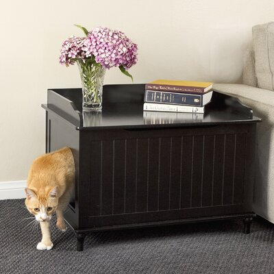 Blaine Litter Box Enclosure Finish: Black