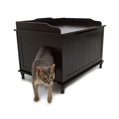 Litter Box Enclosure Finish: Black