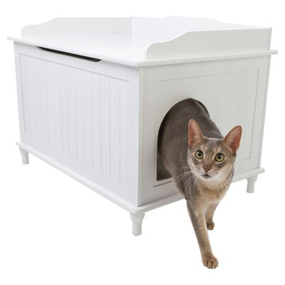 Litter Box Enclosure Finish: White