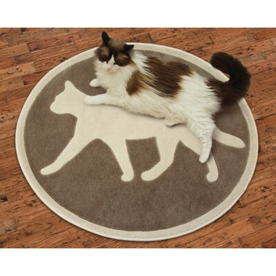 Purrrsian Brown Area Rug