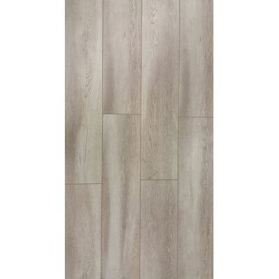 Abdiel Rama 7.72 x 47.83 x 12.3mm Laminate in Gray Silver