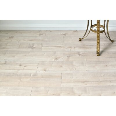 Dombrowski 8 x 48 x 12mm Maple Laminate Flooring in Simply Blanco