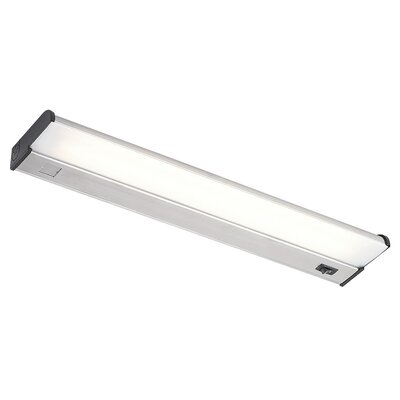 Counter Attack Fluorescent Under Cabinet Bar Light Length: 21.88, Finish: Stainless Steel
