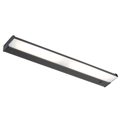 Counter Attack Fluorescent Under Cabinet Bar Light Length: 25.25, Finish: Black